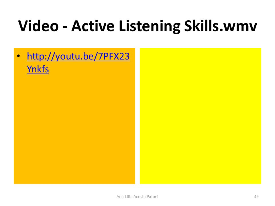 Video - Active Listening Skills.wmv