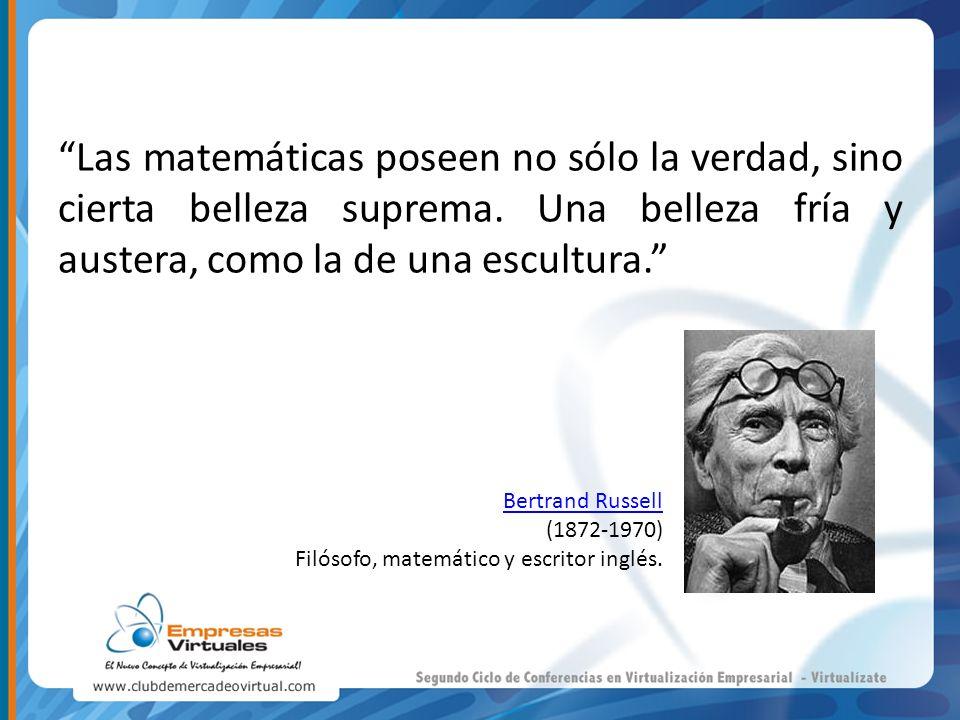 Las matemáticas poseen no sólo la verdad, sino cierta belleza suprema