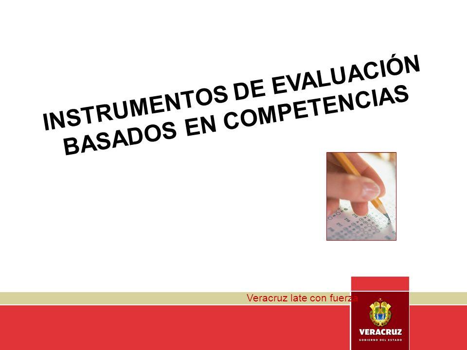 INSTRUMENTOS DE EVALUACIÓN BASADOS EN COMPETENCIAS