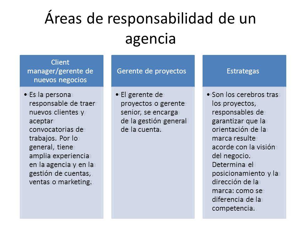 Áreas de responsabilidad de un agencia