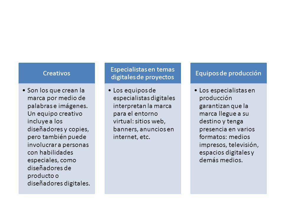 Especialistas en temas digitales de proyectos