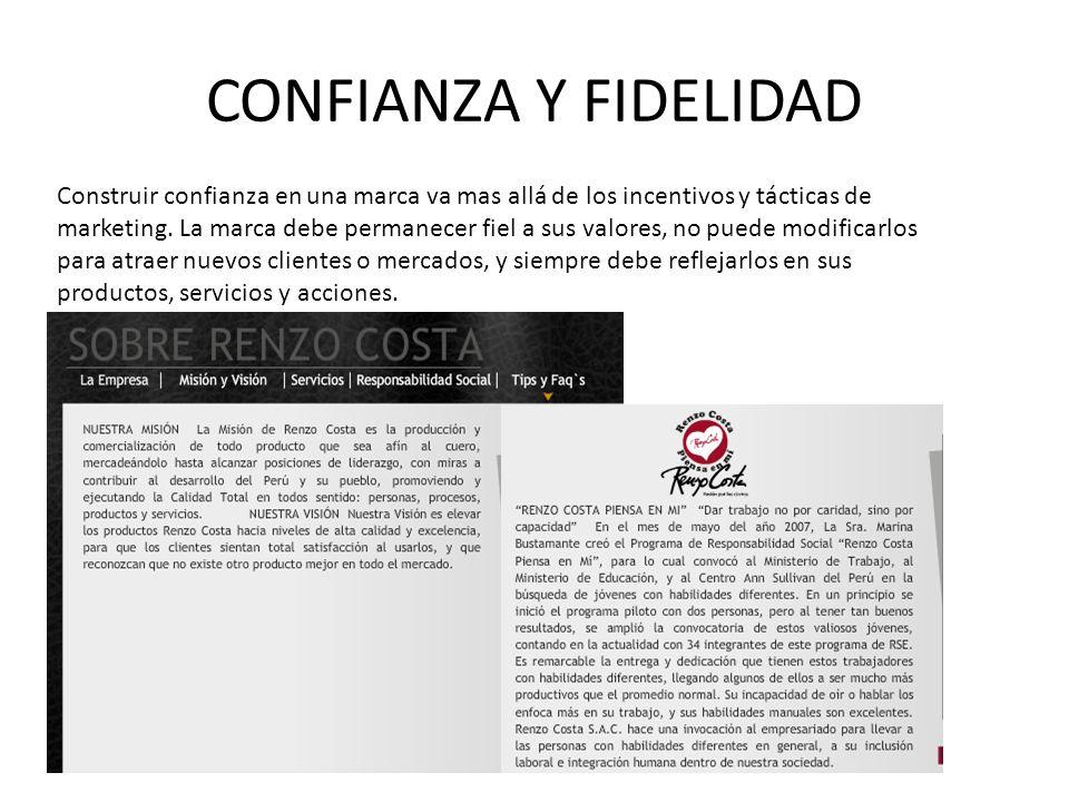 CONFIANZA Y FIDELIDAD