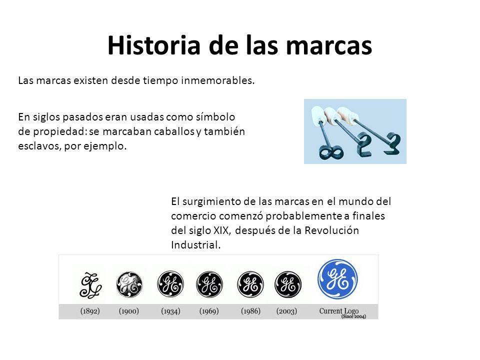 Historia de las marcas Las marcas existen desde tiempo inmemorables.