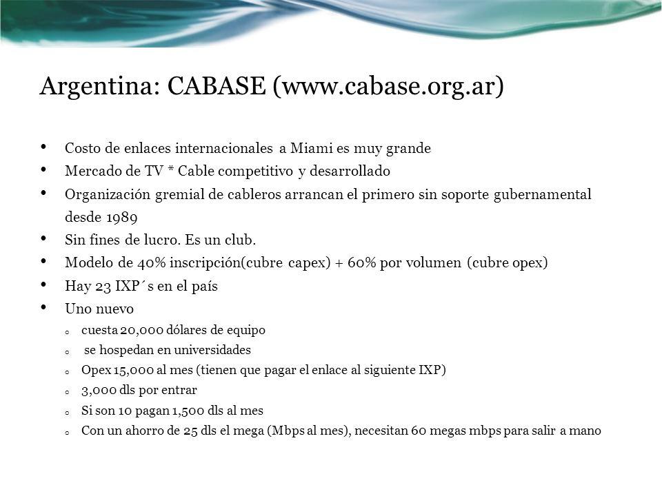 Argentina: CABASE (www.cabase.org.ar)
