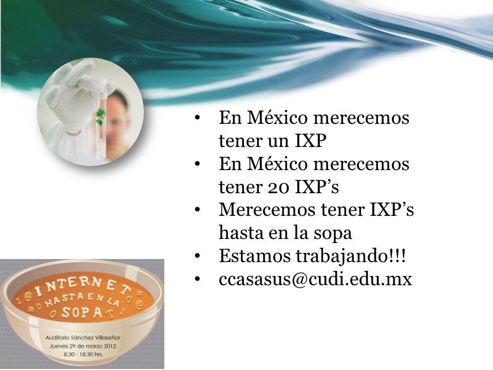 En México merecemos tener un IXP