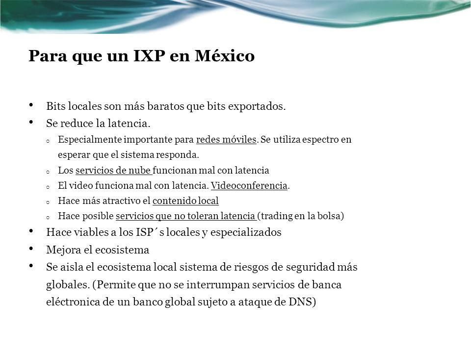 Para que un IXP en México