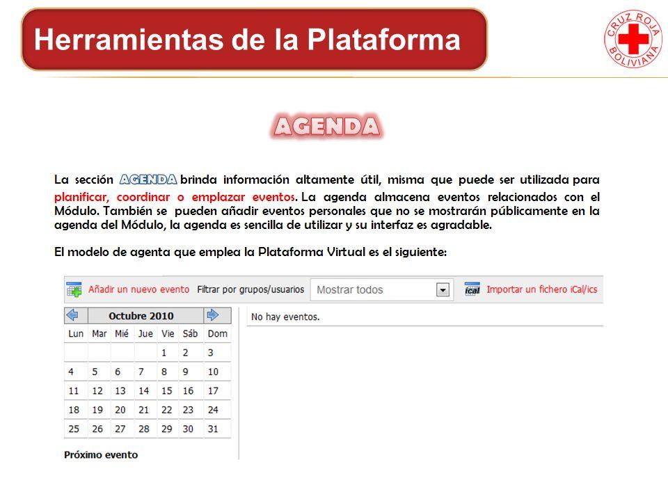 Herramientas de la Plataforma