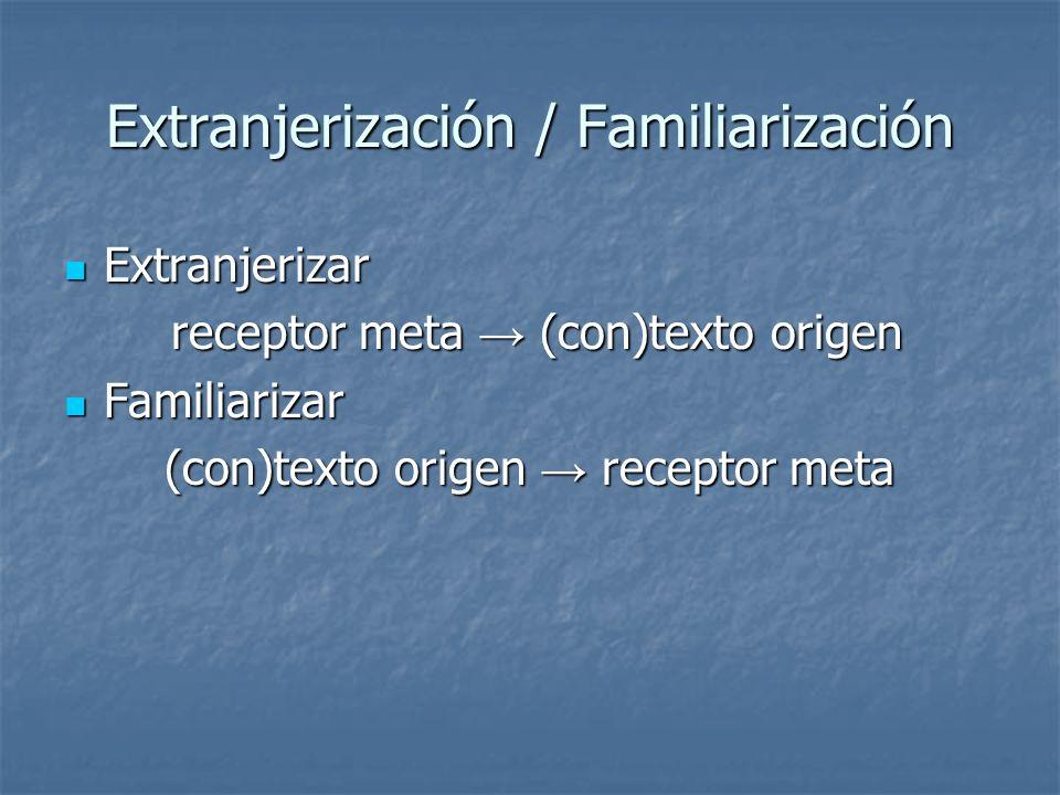 Extranjerización / Familiarización