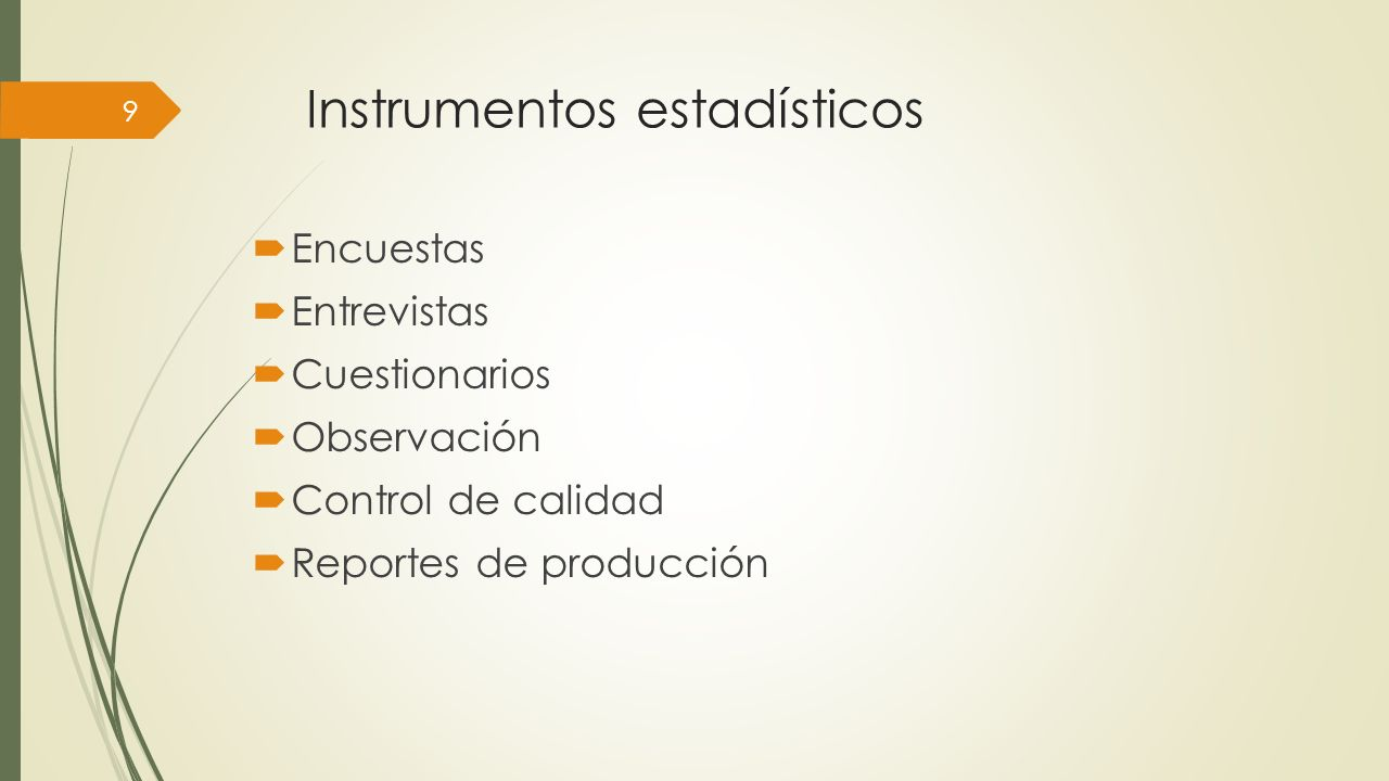Instrumentos estadísticos