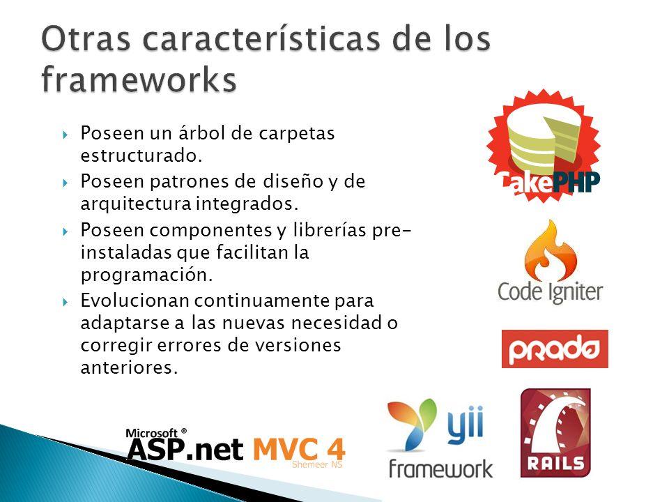 Otras características de los frameworks