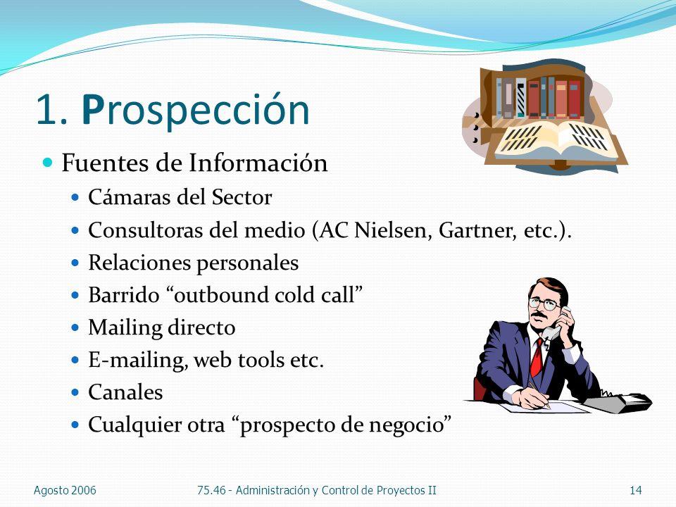1. Prospección Fuentes de Información Cámaras del Sector
