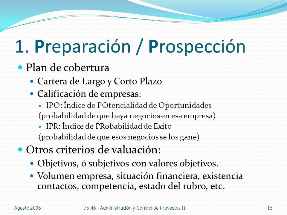 1. Preparación / Prospección