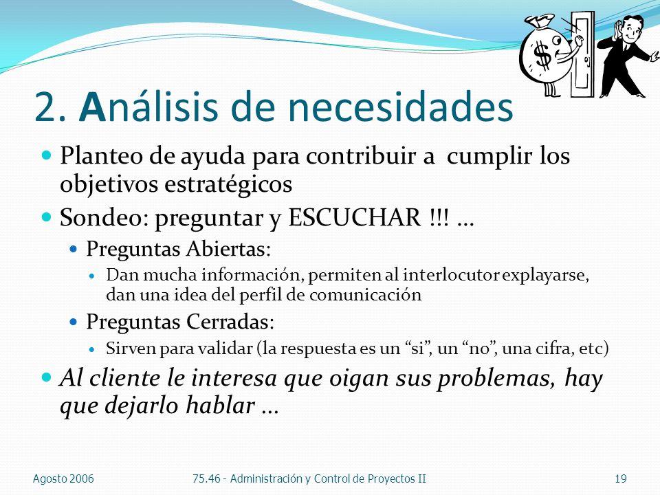 2. Análisis de necesidades