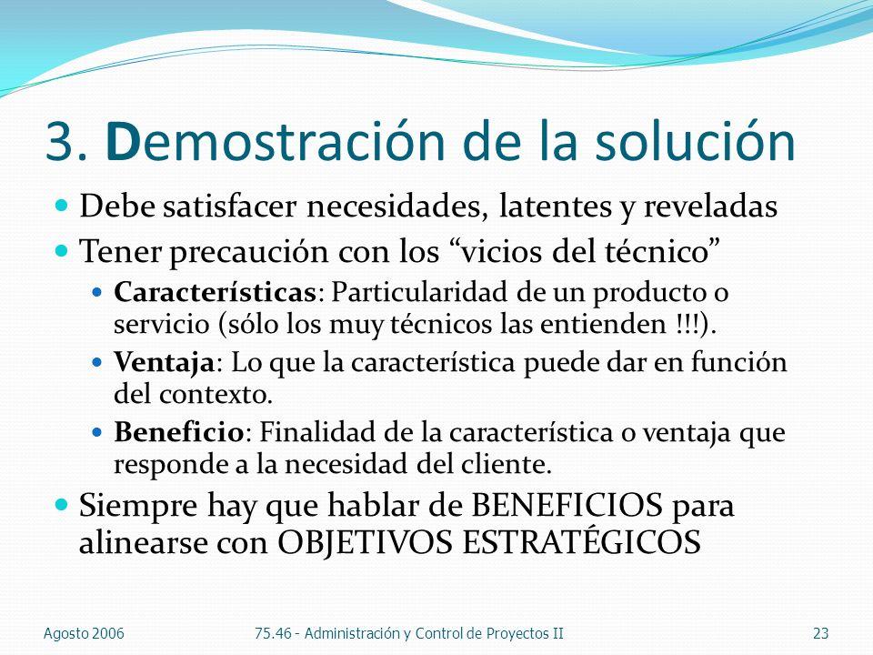 3. Demostración de la solución