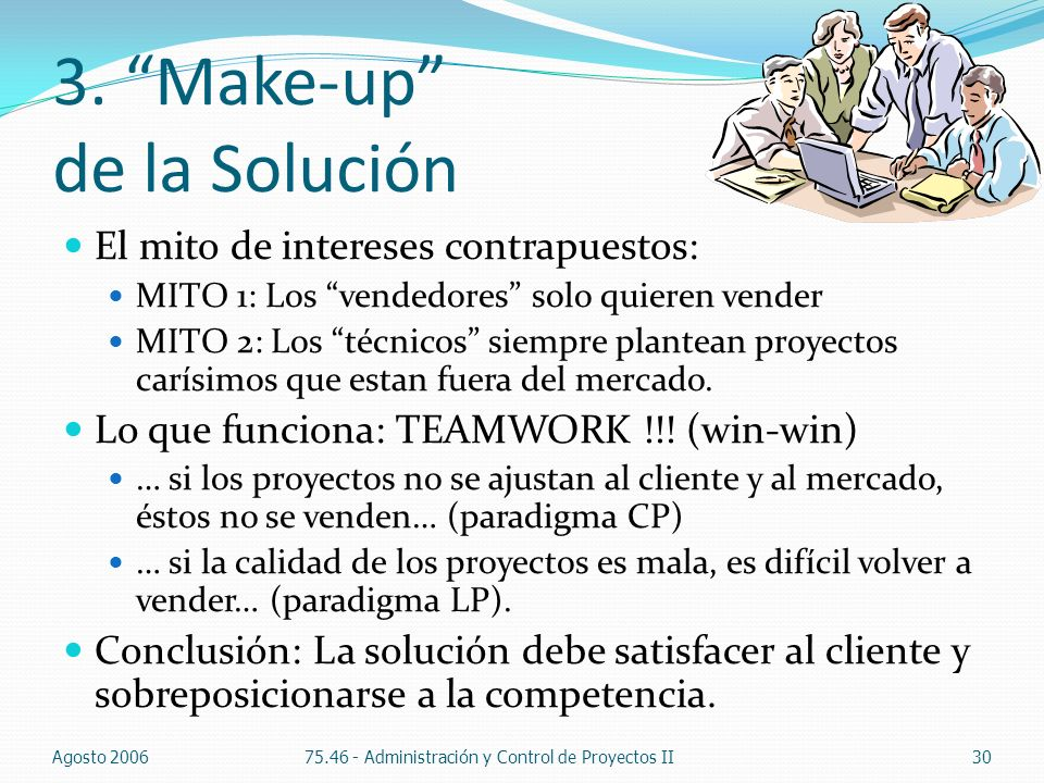 3. Make-up de la Solución