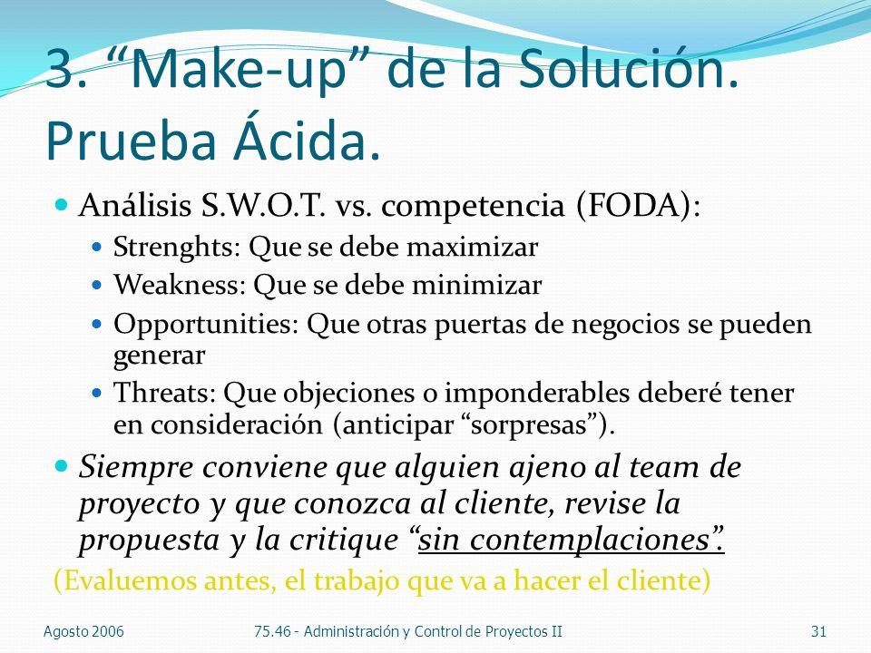 3. Make-up de la Solución. Prueba Ácida.
