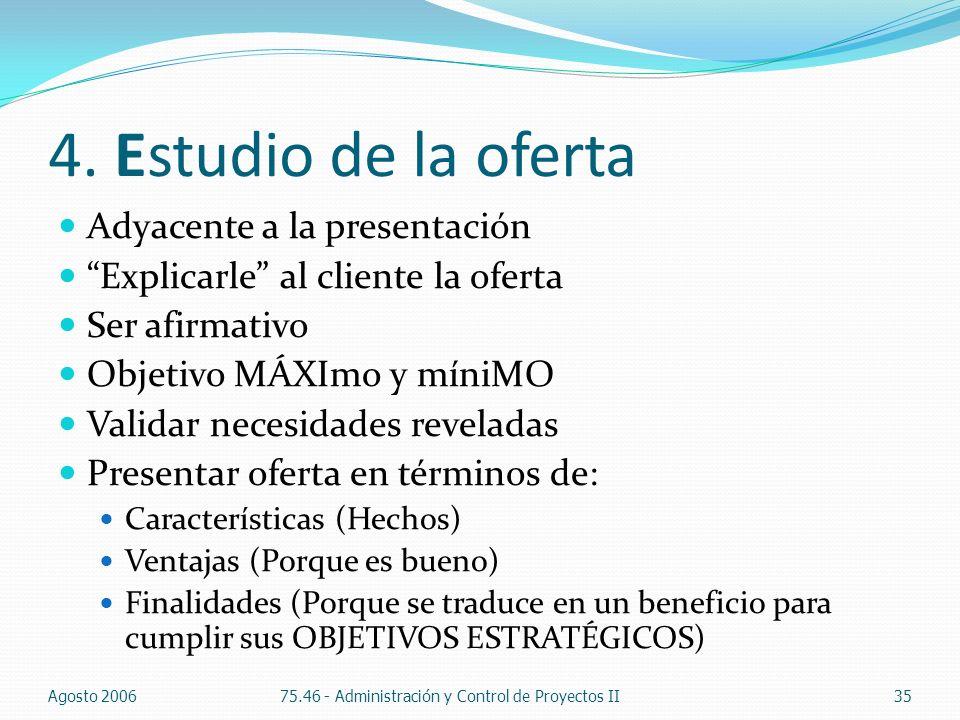 4. Estudio de la oferta Adyacente a la presentación