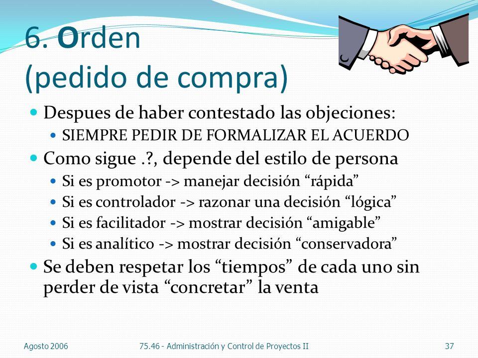 6. Orden (pedido de compra)
