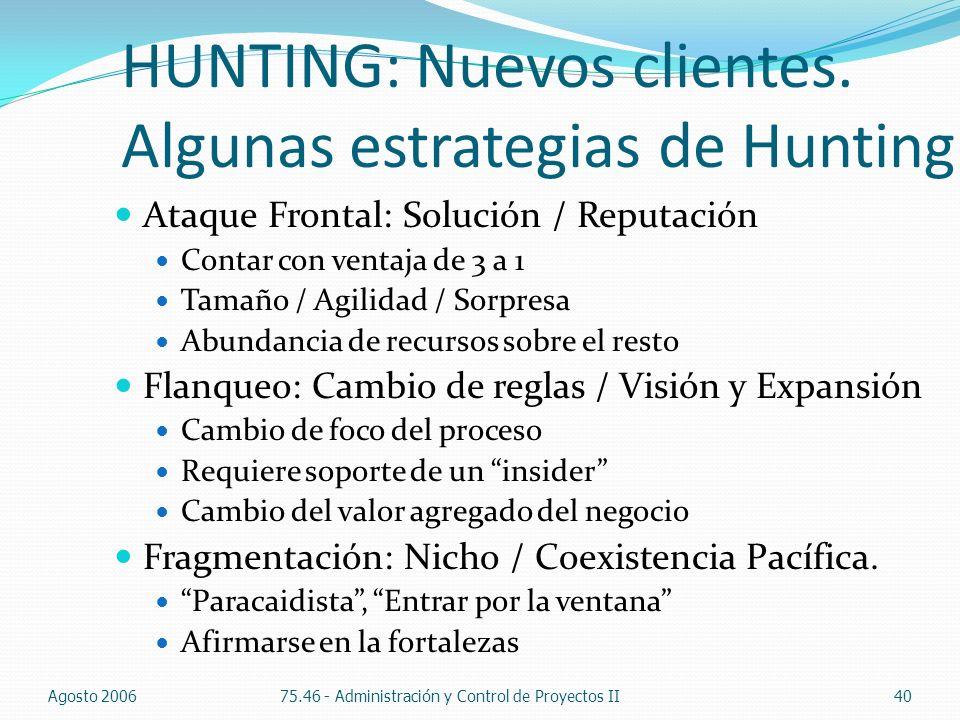 HUNTING: Nuevos clientes. Algunas estrategias de Hunting