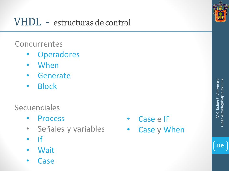 VHDL - estructuras de control