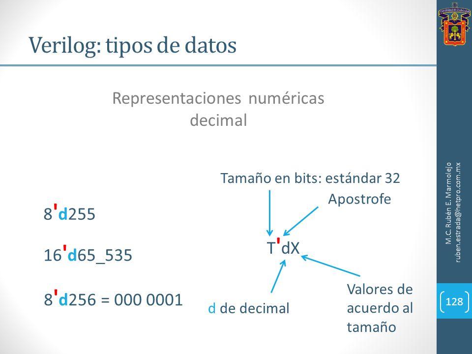 Verilog: tipos de datos