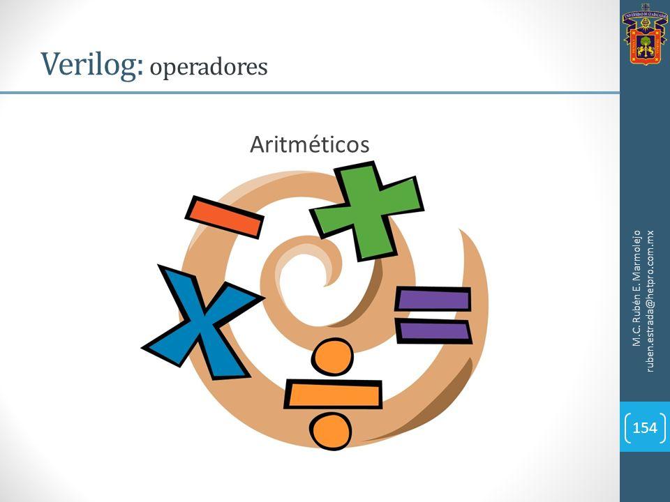 Verilog: operadores Aritméticos