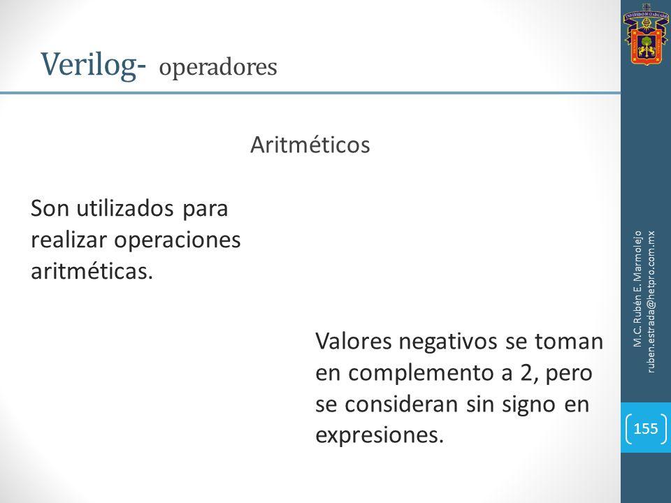Verilog- operadores Aritméticos