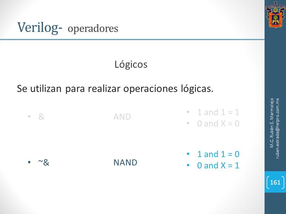 Verilog- operadores Lógicos