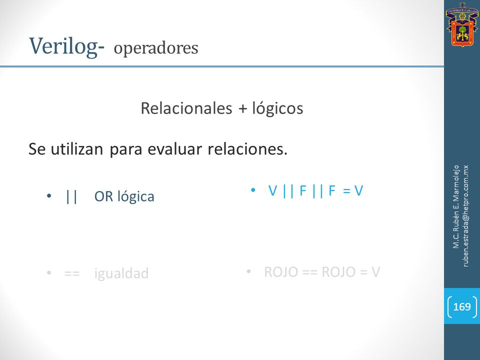 Relacionales + lógicos