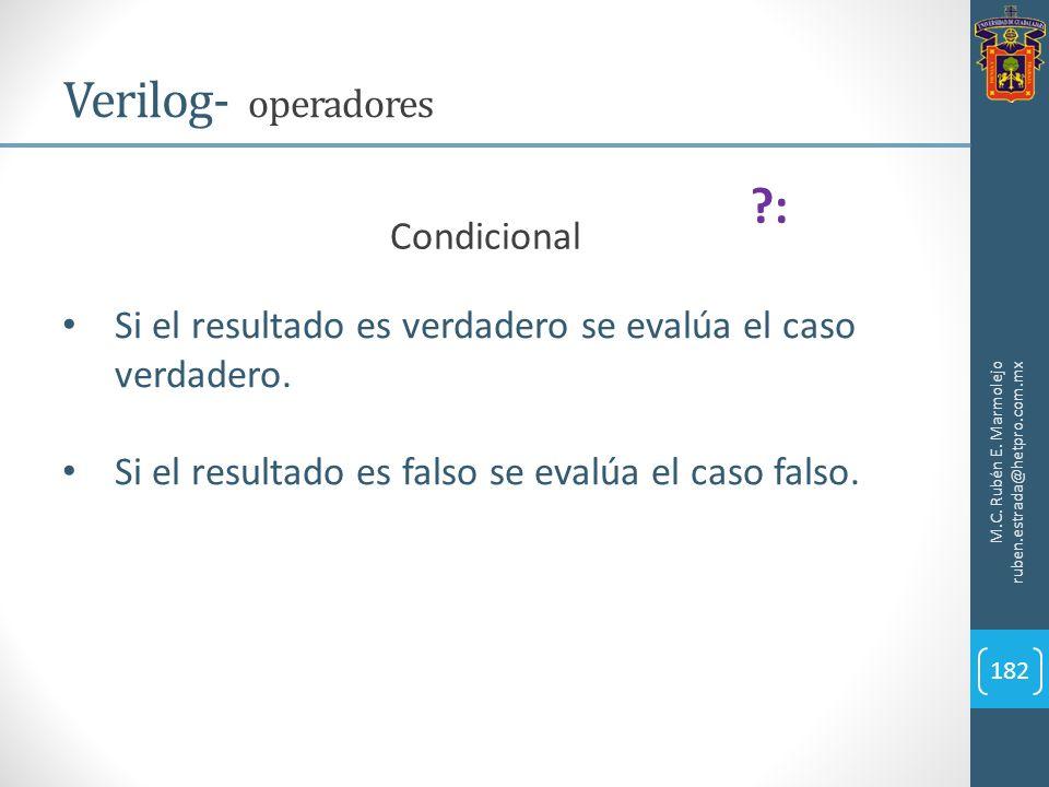 Verilog- operadores : Condicional