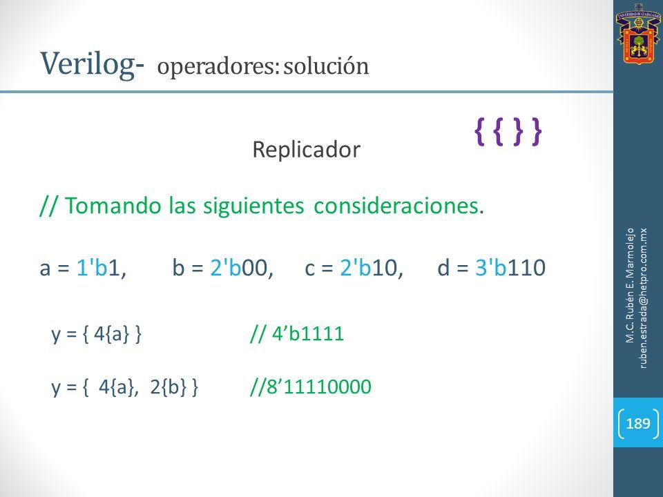Verilog- operadores: solución