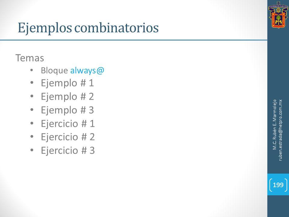 Ejemplos combinatorios