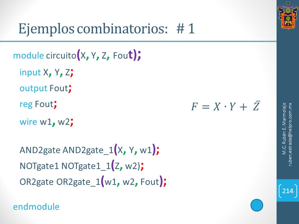 Ejemplos combinatorios: # 1