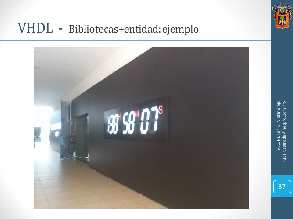 VHDL - Bibliotecas+entidad: ejemplo