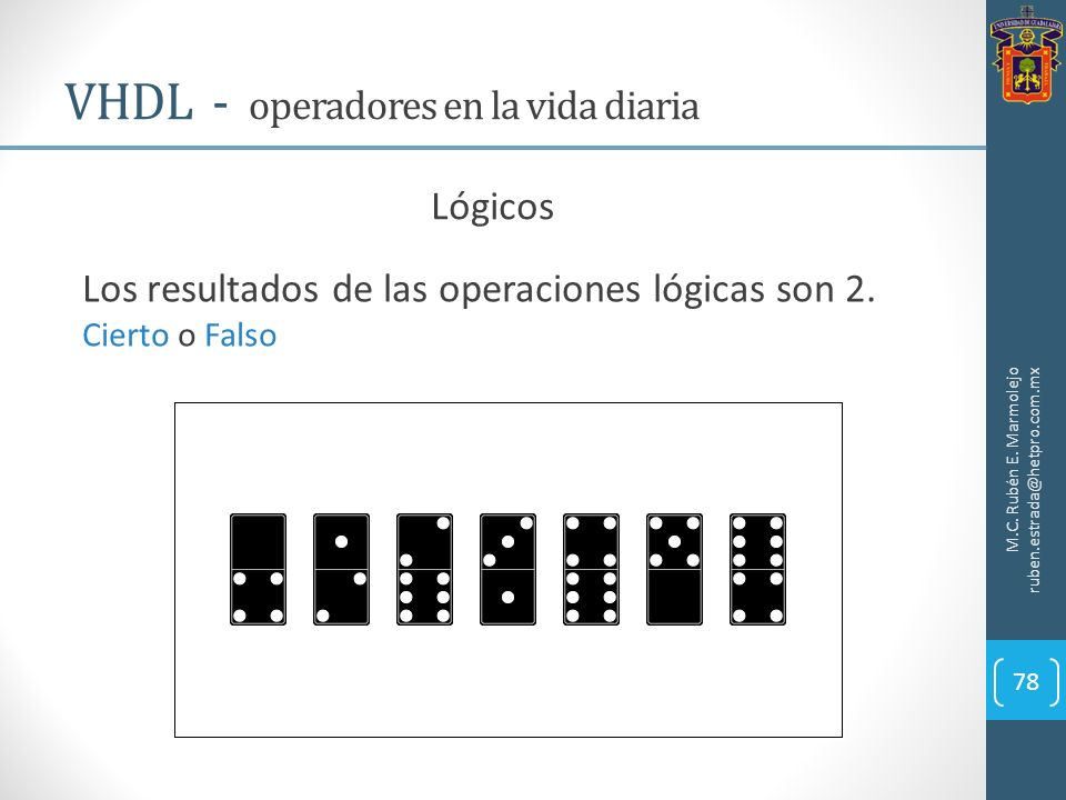 VHDL - operadores en la vida diaria