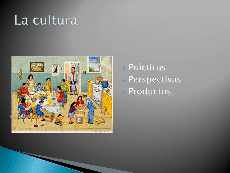 La cultura Prácticas Perspectivas Productos