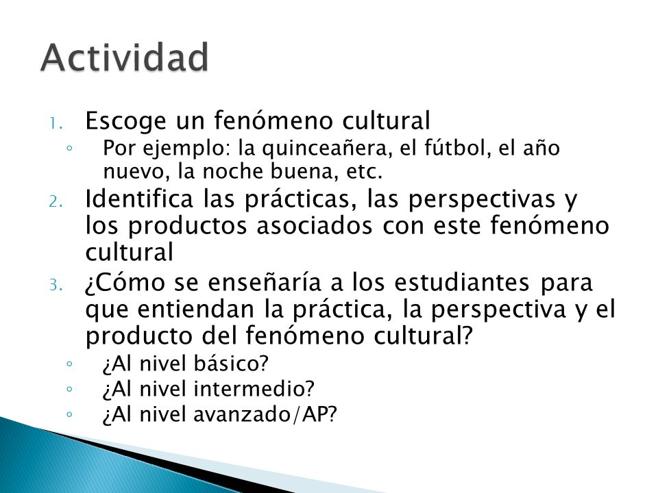 Actividad Escoge un fenómeno cultural