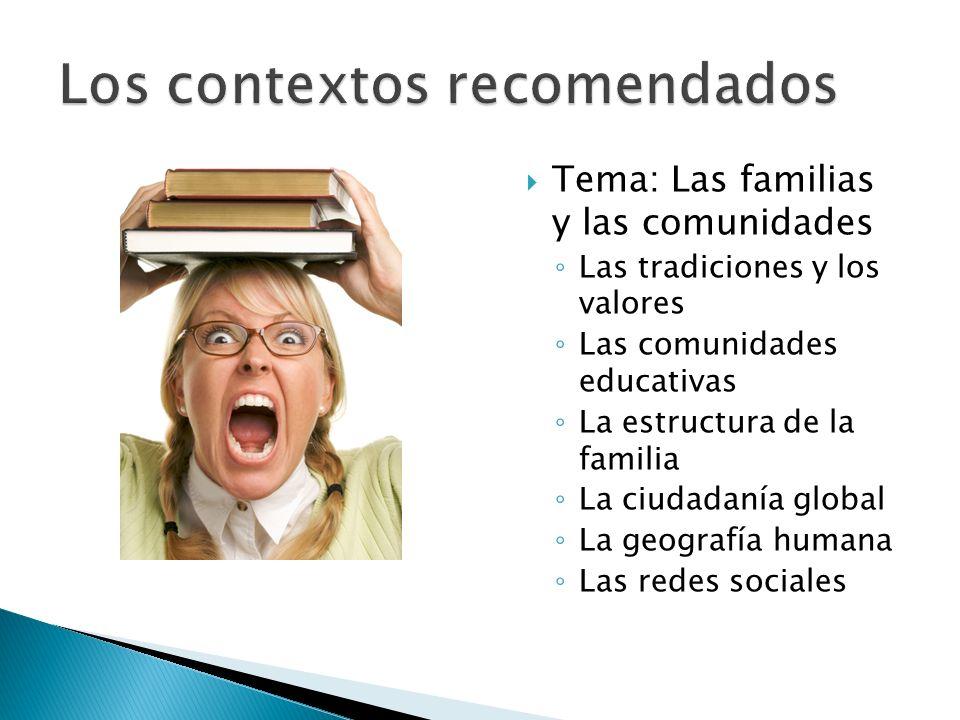 Los contextos recomendados