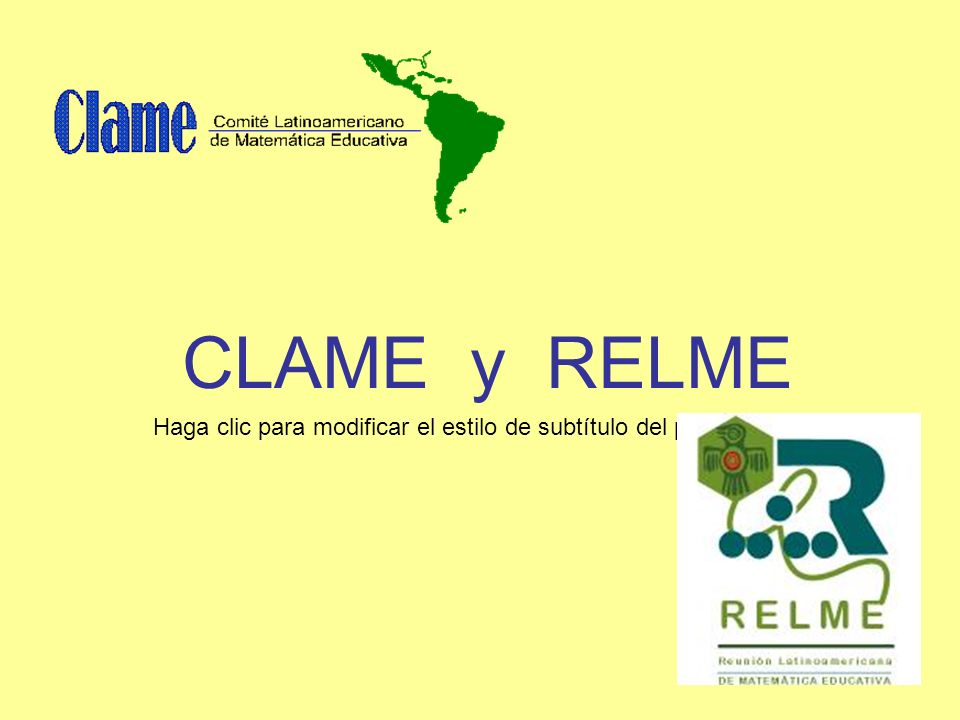 CLAME y RELME