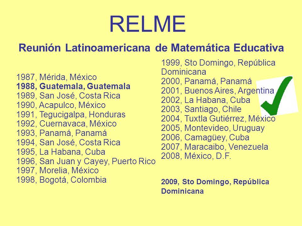 RELME Reunión Latinoamericana de Matemática Educativa