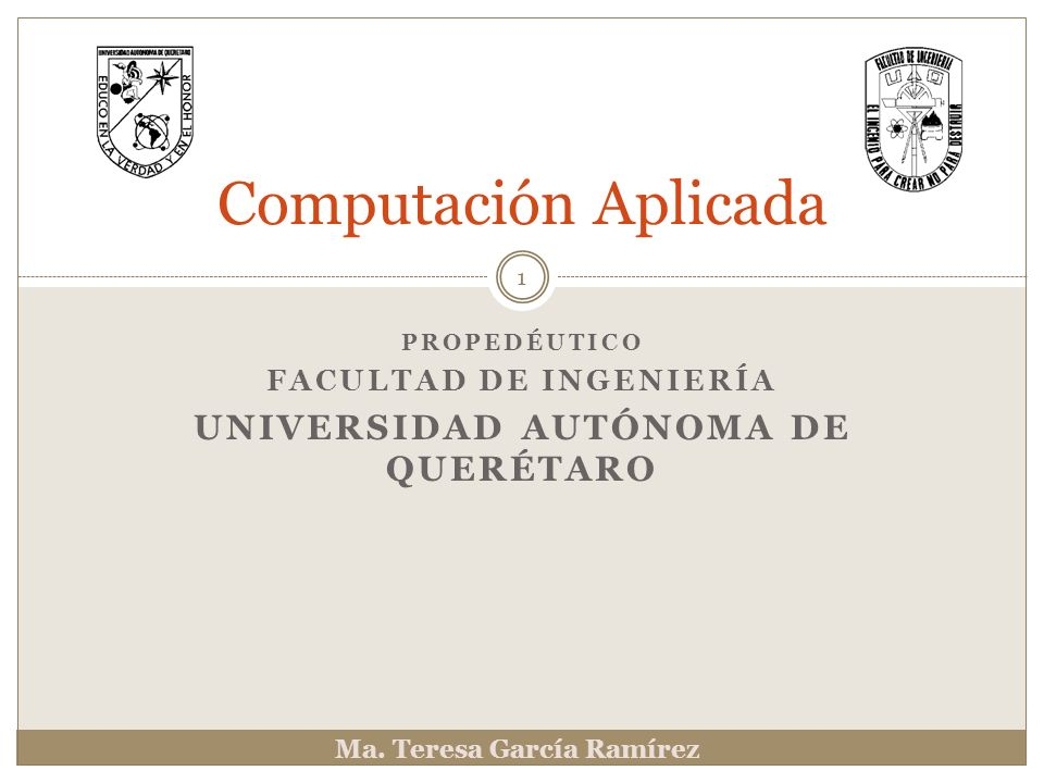 Propedéutico Facultad de Ingeniería Universidad autónoma de querétaro