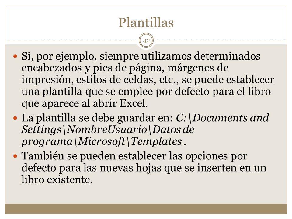 Plantillas