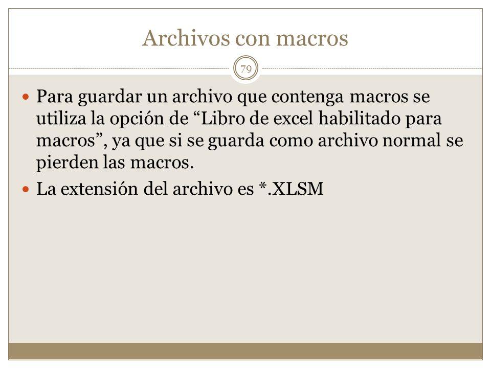 Archivos con macros