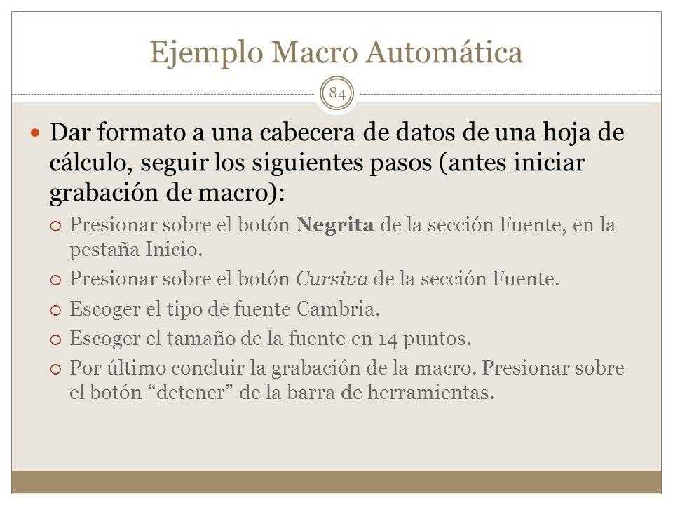 Ejemplo Macro Automática