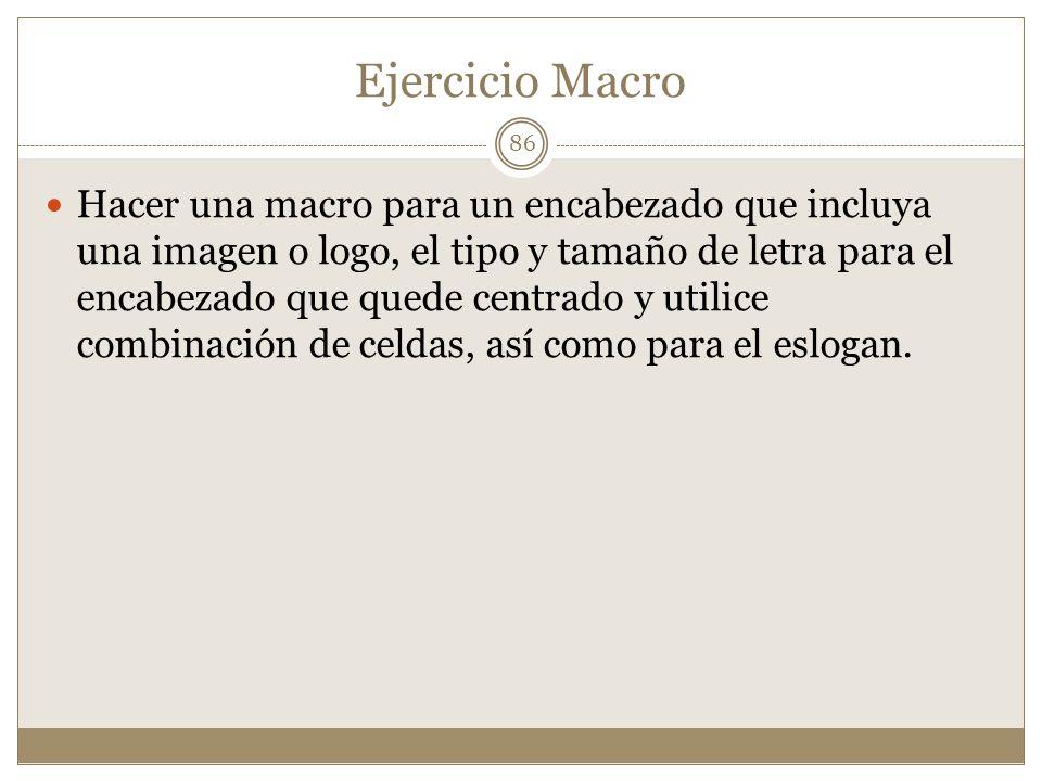 Ejercicio Macro