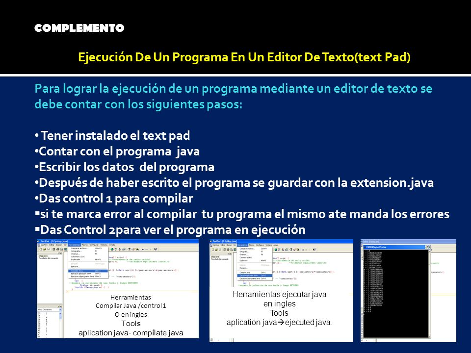 Ejecución De Un Programa En Un Editor De Texto(text Pad)