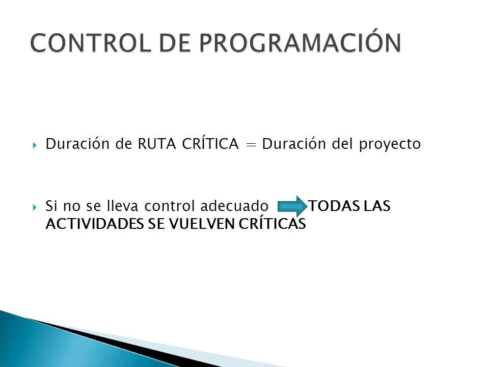 CONTROL DE PROGRAMACIÓN