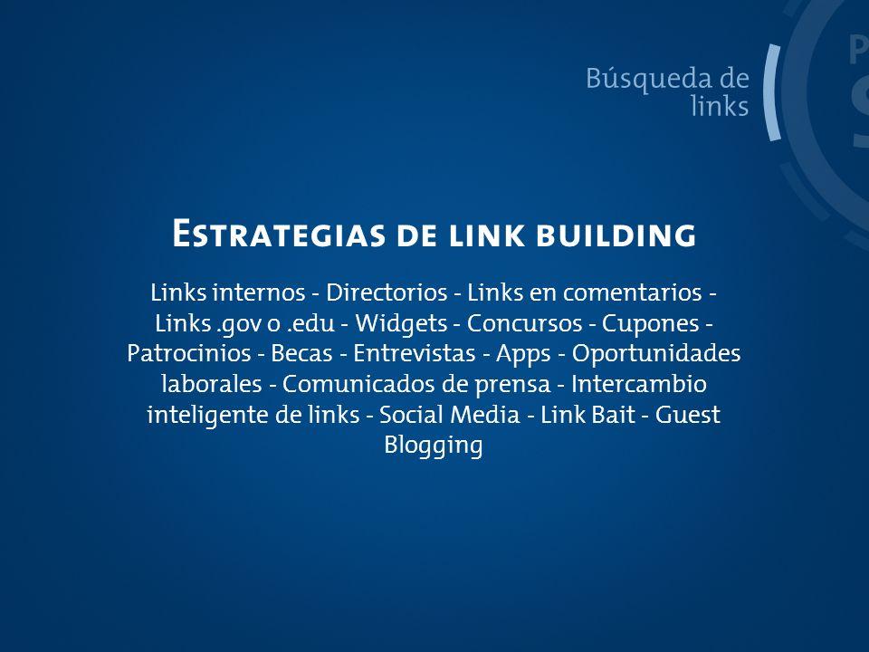 Estrategias de link building