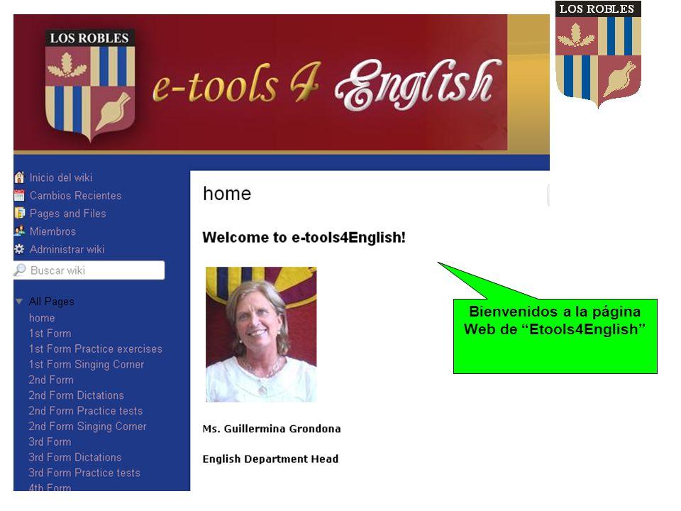 Bienvenidos a la página Web de Etools4English