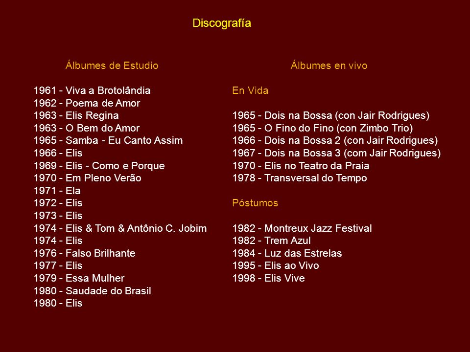 Discografía Álbumes de Estudio 1961 - Viva a Brotolândia